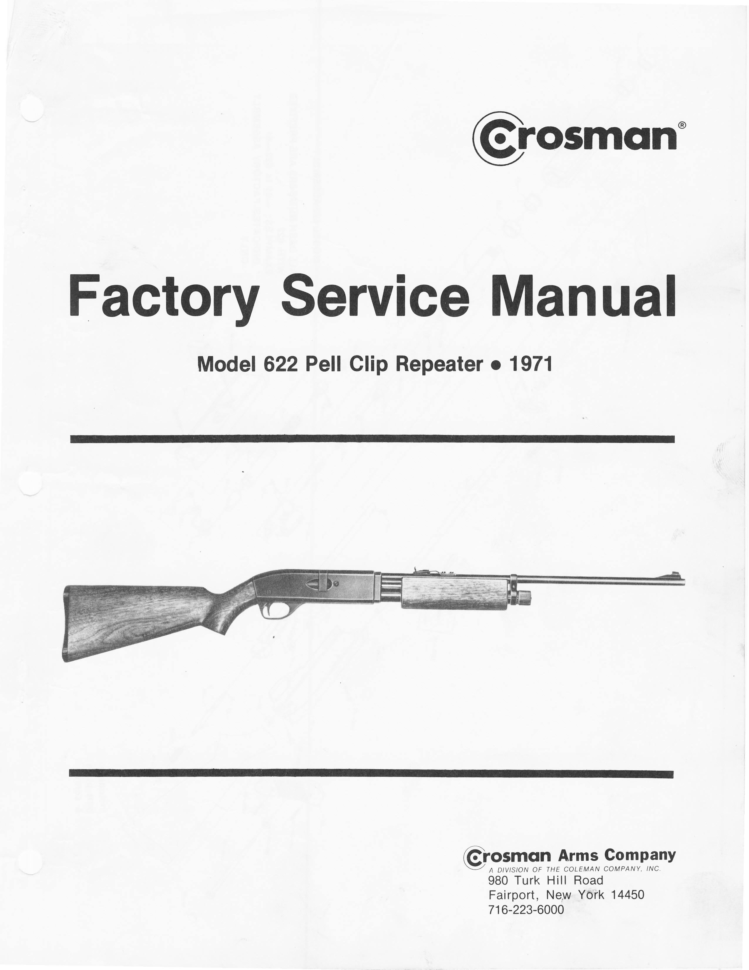 CRS622FSM1971 DOWNLOAD Factory Service Manual for the model 622